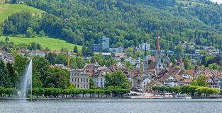 Zug cityscape Stock Images