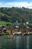 zug de la Suisse de ville Images libres de droits