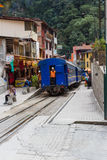Zug in den Aguas-Kunden oder in Machu Pichu Lizenzfreies Stockbild