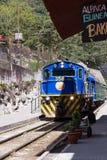 Zug in den Aguas-Kunden oder in Machu Pichu Lizenzfreie Stockfotos