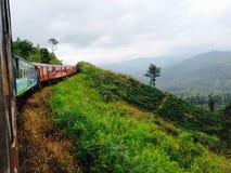 Zug in den Hügeln Lizenzfreie Stockfotos