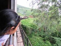 Zug in den Hochländern von Sri Lanka Stockbild
