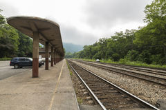Zug-Depot Lizenzfreie Stockfotos