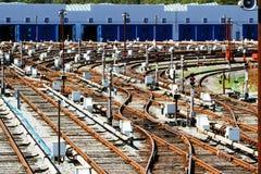 Zug-Depot Lizenzfreie Stockfotografie