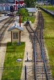 Zug-Depot Stockbild