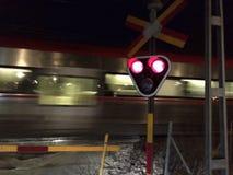 Zug in der Dunkelheit Stockbild