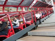 Zug der szenischen Eisenbahn Stockbilder