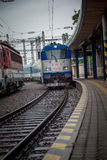 Zug, der zu Bratislava-Hauptanschluss ankommt