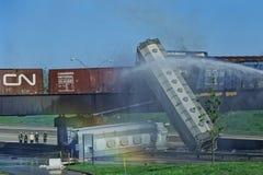 Zug-Entgleisung, am 22. Mai 1995 Stockfoto