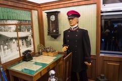 Zug-Fahrerkabinett der Weinlese Retro- Stockbild