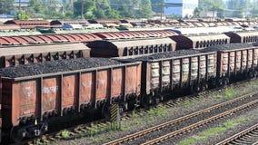 Zug geladen mit Kohle