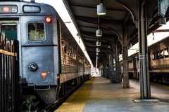 Zug an Hoboken-Station, New-Jersey Stockbilder