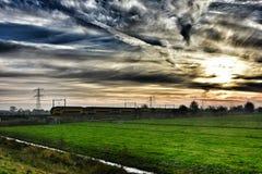 Zug Holland lizenzfreies stockbild