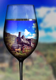Zug im Glaseffekt Lizenzfreie Stockbilder