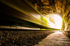 Zug im Tunnel Stockbilder