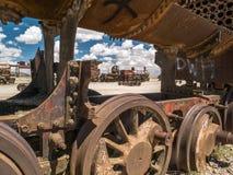 Zug-Kirchhof in Uyuni, bolivianisch Stockfoto