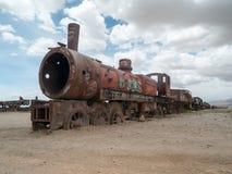 Zug-Kirchhof in Uyuni, bolivianisch Stockfotografie