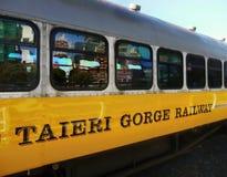 Zug-Lastwagen, Bahnhof, Neuseeland Stockbilder