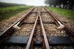 Zug-LKWs aufgespaltet Stockbilder