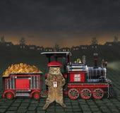 Zug mit Zufuhr für Haustier 2 lizenzfreies stockfoto
