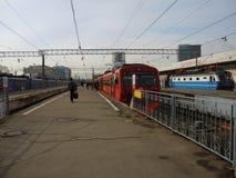 Zug in Moskau, Russland Stockfotografie