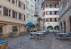 Zug old town street Royalty Free Stock Photography