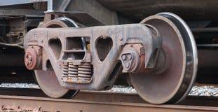 Zug-Räder Stockfotografie
