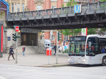 Zug S Bahn S in Hamburg Lizenzfreies Stockfoto