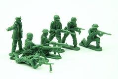 Zug-Spielzeug-Soldaten stockbilder