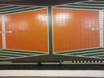 Zug station Hamburg. Untergrund zug train Stock Photography