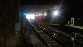 Zug-Tunnel Stockbild