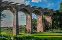 Zug-Viadukt bei Eynesford Kent Stockfotos