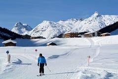 Zug. Winter scenery around Zug village in Tirol - Austria Stock Images