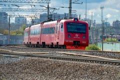 Zug zum Sheremetyevo Lizenzfreie Stockfotos