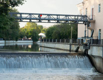 Zugang auf dem Fluss Stockbild