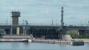 Zugang auf dem Fluss Volga stock footage