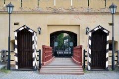 Zugang der schiefen Caponier-Festung in Kyiv, Ukraine Lizenzfreie Stockfotografie