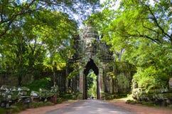 Zugang nach Angkor Thom, Angkor Wat Complex, Siem Reap Kambodscha, am 3. September 2015 stockbild