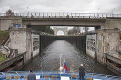 Zugang Uglich auf dem Volga Stockbild