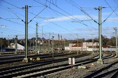 Zugang zum Bahnhof von Rottweil, Deutschland Stockfotografie