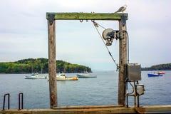 Zugang zum Glück - Maine-Feiertagsreise Stockbild
