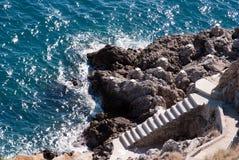 Zugang zum Meer Stockfotografie