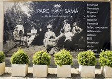 Zugang zum Park Sama stockfotografie