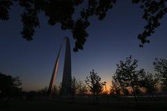 Zugangs-Bogen in St. Louis, Missouri Stockfoto