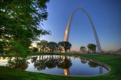 Zugangs-Bogen in St. Louis, Missouri Stockbild