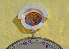 Zugangsikone der Kirche der heiligen Apostel Peter und Paul Zheleznodorozhnyj, Kaliningrad-Region Stockfotos
