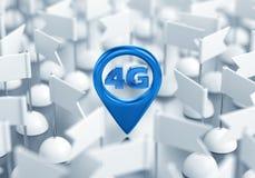Zugangspunkt-Standort des drahtlosen Netzwerks 4G Stockfotos