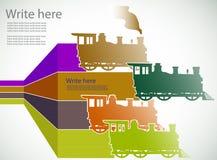 Zugaufkleber Stockfoto
