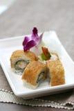 Zugebereitete und köstliche Sushi eingelassenes Studio Lizenzfreie Stockbilder