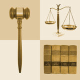 Zugelassene Gesetz-Gerechtigkeit-Collage Stockfotografie